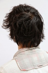 頭頂部 薄毛 髪型 画像