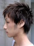 大人のアシメウルフ 硬い髪用