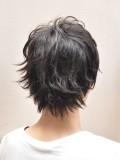 黒髪ショートウルフ