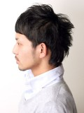 黒髪ちょい刈りウルフ