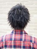 メンズ黒髪ショート