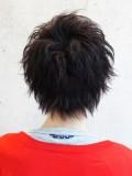 黒髪ニュアンスムーブショート