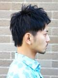 黒髪ツーブロックショート