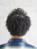 無造作黒髪ショート