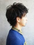 雨宮雄三×前髪上げショート