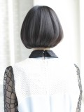 黒髪ストレートボブ