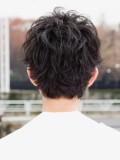 黒髪無造作ショート