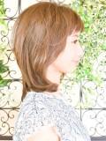 シンプルミディアムヘア