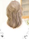 大人かわいい前髪ありのデジタルパーマ