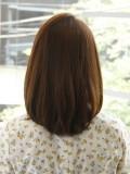 ストレートミディアムヘア