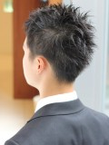 超簡単セットのアップバングビジネスヘア