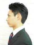 黒髪かきあげスタイル