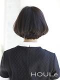 黒髪ショートバングボブ