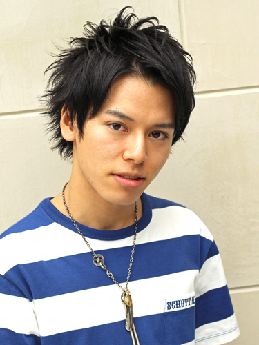 TAKAHIRO風☆アップバング黒髪ヘア