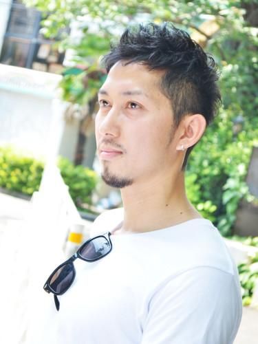 外国人風×ツ-ブロック 黒髪メンズショート