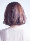 大人の短め前髪ナチュラルロブ