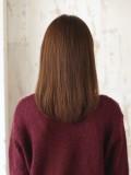 大人かわいいナチュラルストレートヘア