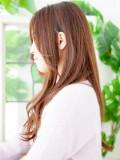 大人センターパート秋髪