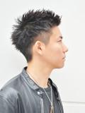 黒髪さわやか束感ショート1