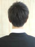前髪下ろしてもビシッとキマるビジネスヘア