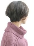 すっぴん髪 くびれマッシュショートヘア