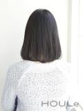 黒髪のワンレンロブ