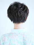 大人キレイな黒髪ひし形小顔ショートヘア
