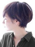 大人のワンカールパーマショートヘア