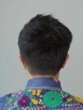 黒髮ツーブロファンシーショート