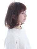 肩のラインのボブスタイル