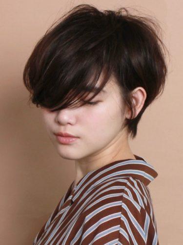 分け目のない☆大人のショートヘア