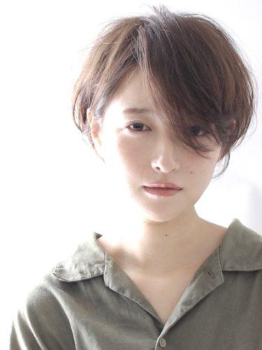 前髪長め☆大人ショートボブスタイル