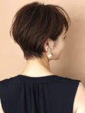 エアリー耳掛けショート/30代・40代/ 大人ショートヘア/前髪あり
