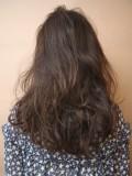 前髪短めカジュアルロング