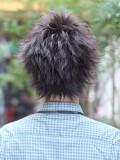 束感黒髪ショート